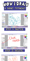 How I Draw: A 4 Step Tutorial by michielynn