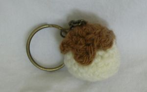 Pudding Keychain by CataCata23