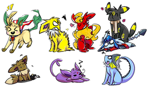 LOOK I ALSO DREW THE G8 AS EEVEES by the-doodle-queen