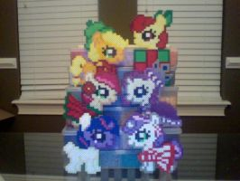Silly Filly Christmas / Holiday Ponies by Perler-Pony
