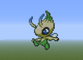 Celebi - Minecraft Pixel Art by EpIcLuKo8D