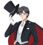 Sailor Moon Crystal style fan art: Tuxedo Kamen by starca
