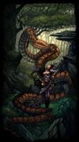 Snake Lady by pencil206