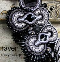 Detail the Raven necklace by aladyndesign