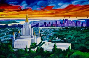 Oakland Temple by SuziemyPuma