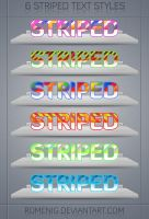 6 Awesome Striped Text Styles by Romenig