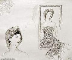 Lady in lace by MeernahArt