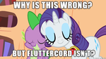 why is Sparity bad but not Fluttercord? by titanium-pony