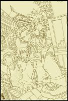 Hayner, Hangin' with his Peeps by herms85