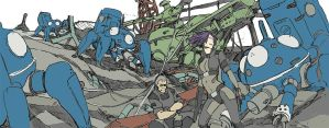 scribble: Ghost in the shell SAC by hira-geco