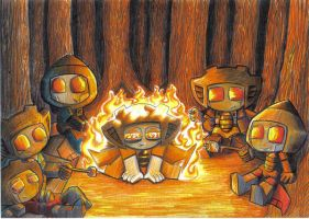campfire by prisonsuit-rabbitman