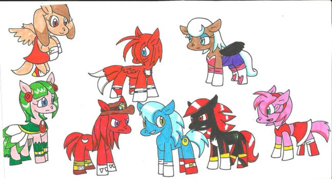 Sonic and My Little Pony by cmara