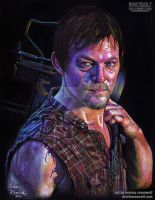 Daryl Dixon (Norman Reedus) - Walking Dead by The-Art-of-Ravenwolf
