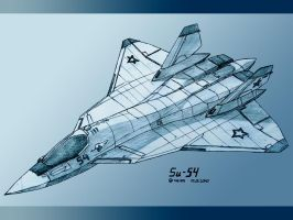 Sukhoi Su-54-2 pencil by TheXHS