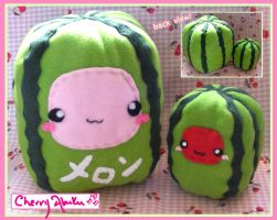 Square Watermelon Plushies by CherryAbuku