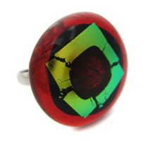 Red Dichroic Ring by fairy-cakes