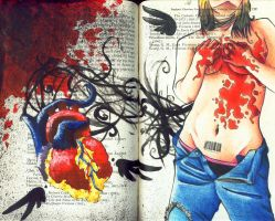 Ripped Out and Bleeding by gothickitty