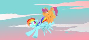 MLP - Flying lessons by MadCookiefighter