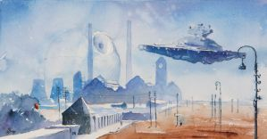 Rogue One first watercolour teaser by sanderus