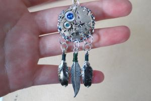 Steampunk Feathers charm by LsUnique