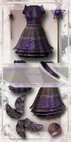 sugerplumedress by priesteres-stock