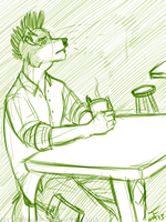Pensive Cafe by Rehgan