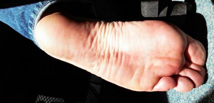 scrunched foot at work by Netsrot1971