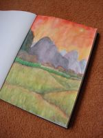 Watercolour Landscape Sketch by Link-of-the-twilight