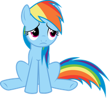 depressed Rainbow Dash is depressed. by awesomeluna