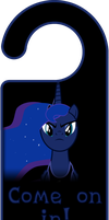 Princess Luna Come On In Door Knob Hanger by Thorinair
