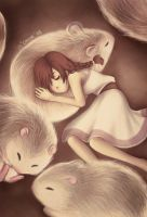Together we Curl into Slumber by chuinny