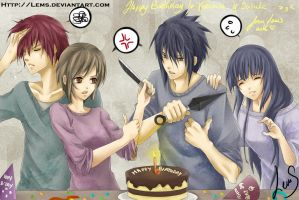 Happy Bday to Hnk and Sasuke by Lems