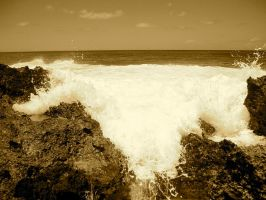 Gush of waves in Maui by Cherose77
