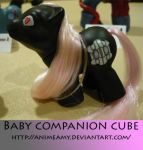 Baby Companion Cube by AnimeAmy