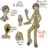 scp 173 human ref by nightmarethemew