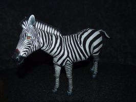 papercraft zebra by zandere123