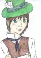 Ollie as the mad hatter by EllenorMererid