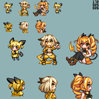 Moemon - Pikachu Family by CMagister