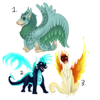 Odd dragons-adopts-auction-CLOSED by CrystalCircle
