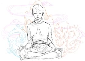Aang - Meditation by Spartichi