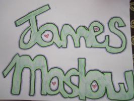 James Maslow Text Design by WolfArt-Rusher