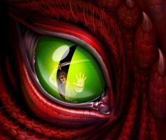 Green Dragons Eye by AlphonseElric13