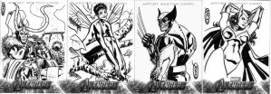 Marvel Sketch Cards- Avengers 4 by ScottCohn
