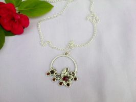 Flower silver pendant by Mirtus63