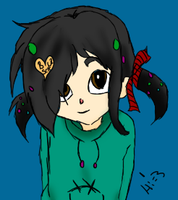 ''I'm Cute'' Pigtails Vanellope by RP-HipsterVanellope