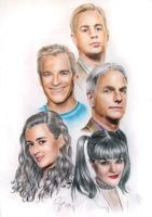 The NCIS Gang: Take Two by siniart