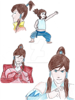 Korra Through the Ages by Silver-Shadoww