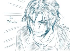 Sketch: 1st Rin Matsuoka by AkariMarco