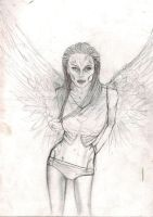 angel of death drawing by TanjaLouiseArtist