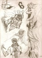 Grimmjow Sketches 2 by vaccatrea